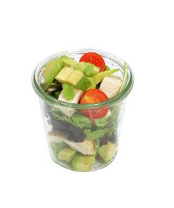 Avocado Salat mit Hähnchenbrust